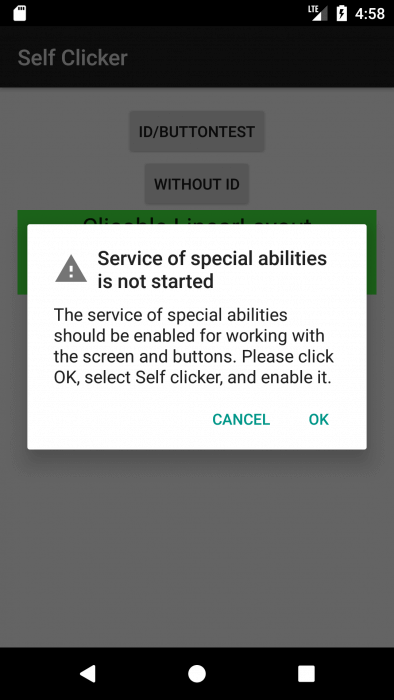 Automating work with programs for Android using the Accessibility